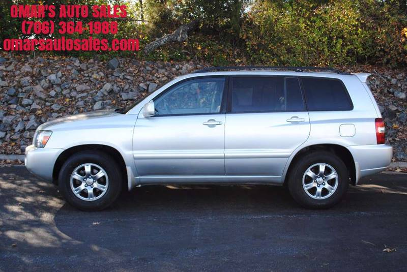 2007 TOYOTA HIGHLANDER BASE 4DR SUV I4 silver great gas saver clean car with leather seats sunr