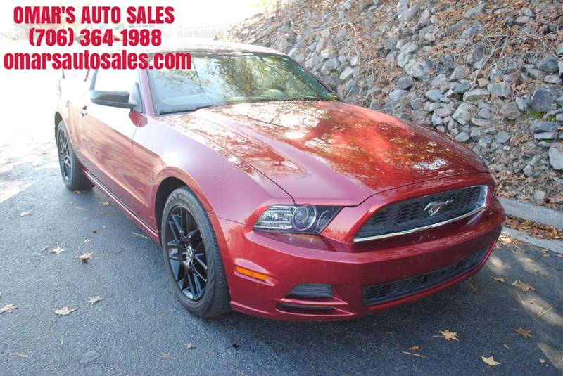 2014 FORD MUSTANG V6 2DR COUPE maroon no accidents clean car with aftermarket wheels fun to d