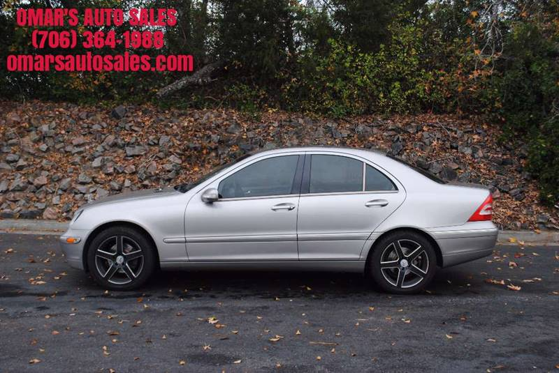 2003 MERCEDES-BENZ C-CLASS C 240 4DR SEDAN gray clean car with leather seats bluetooth sunroof