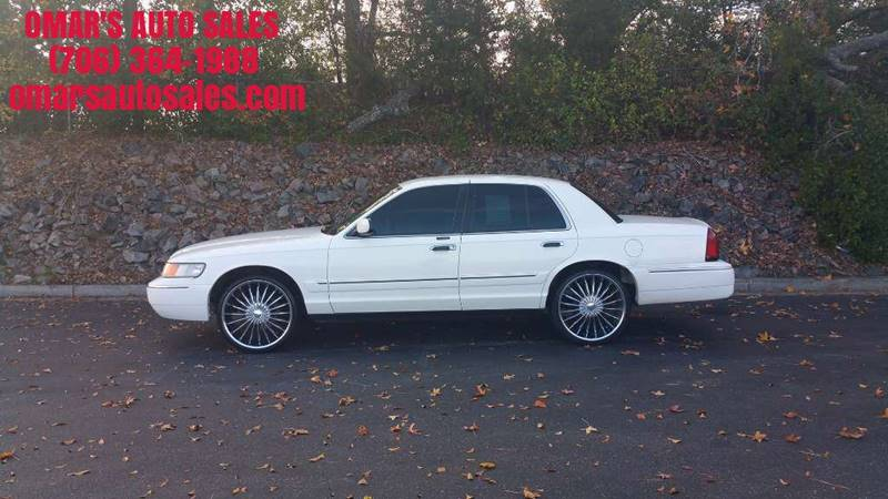 1999 MERCURY GRAND MARQUIS GS 4DR SEDAN white no accidents clean car with aftermarket radio an