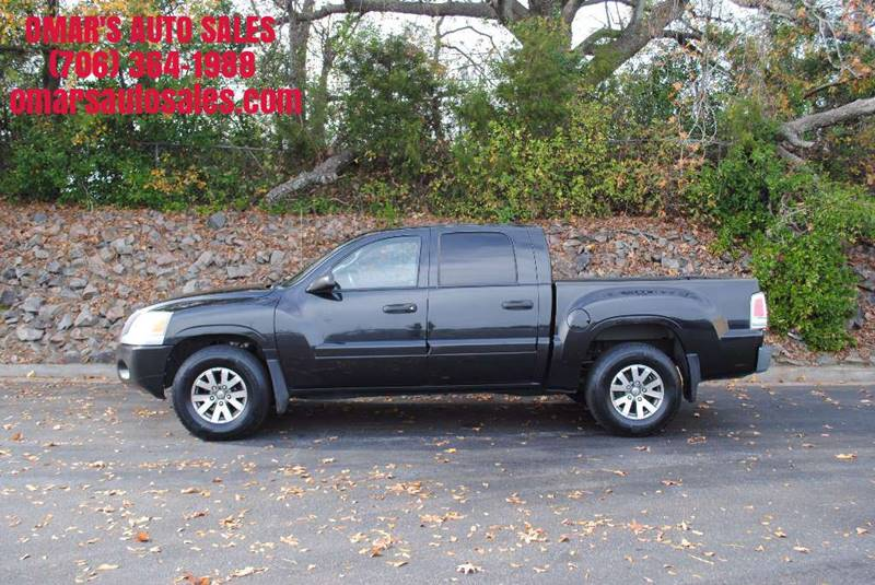 2007 MITSUBISHI RAIDER LS 4DR DOUBLE CAB SB black no accidents clean truck with 3 months free