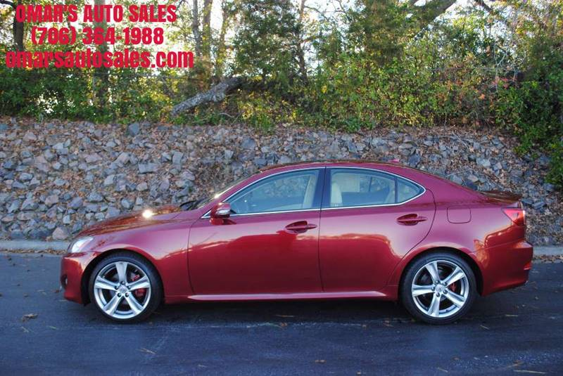 2012 LEXUS IS 250 BASE 4DR SEDAN 6A red 1 owner 3 months free sirius satellite radio clean car