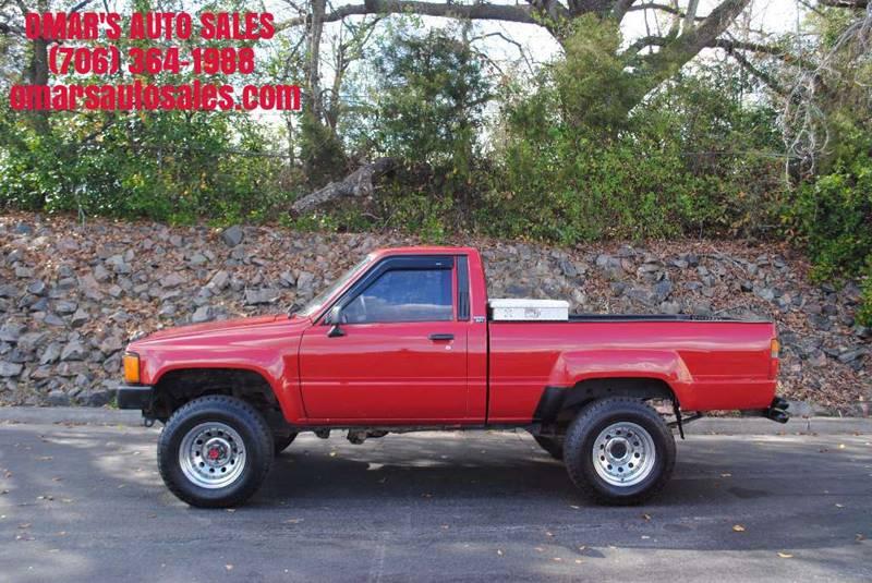 1988 TOYOTA PICKUP BASE 2DR 4WD STANDARD CAB SB red power brakes tire type wheel diameter - 15