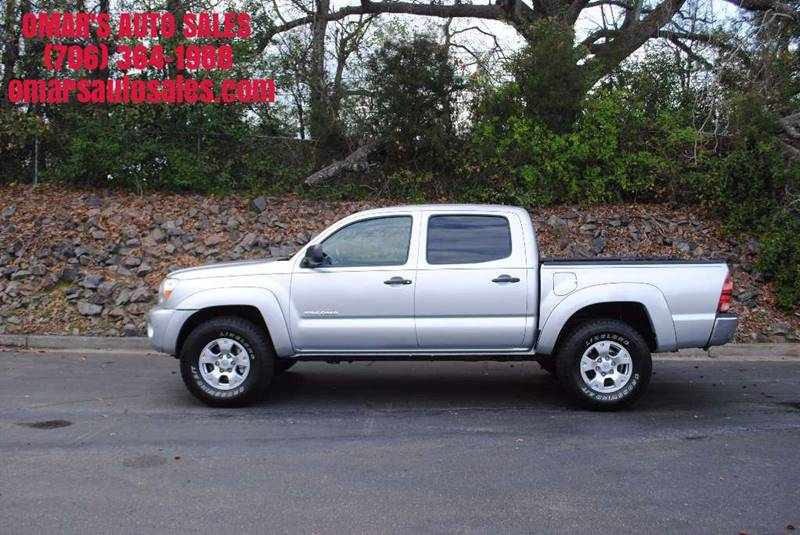 2008 TOYOTA TACOMA PRERUNNER V6 4X2 4DR DOUBLE CAB silver tailgate - removable cargo tie downs