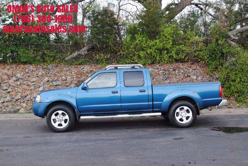 2004 NISSAN FRONTIER XE-V6 4DR CREW CAB RWD LB blue skid plates front air conditioning center