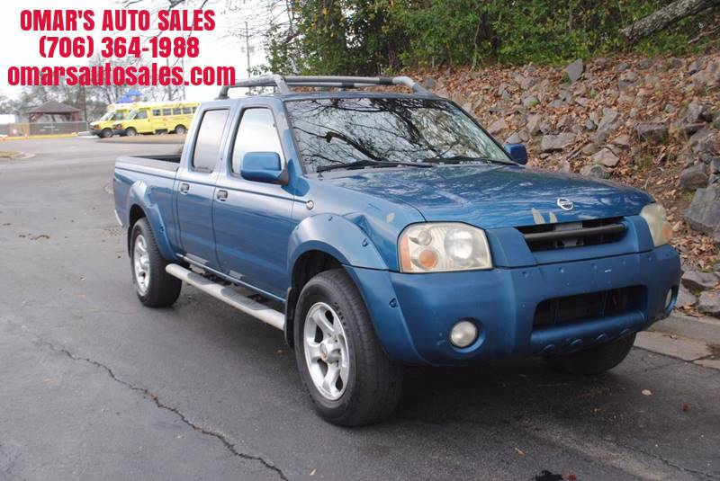2004 NISSAN FRONTIER XE-V6 4DR CREW CAB RWD LB blue great truck with leather seats power windows