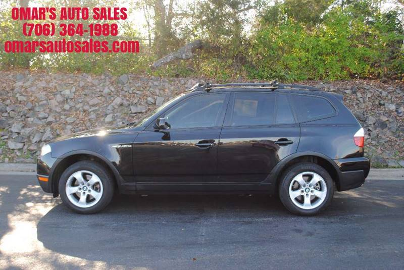 2007 BMW X3 30SI AWD 4DR SUV black awd very nice suv with bluetooth leather seats panoramic su