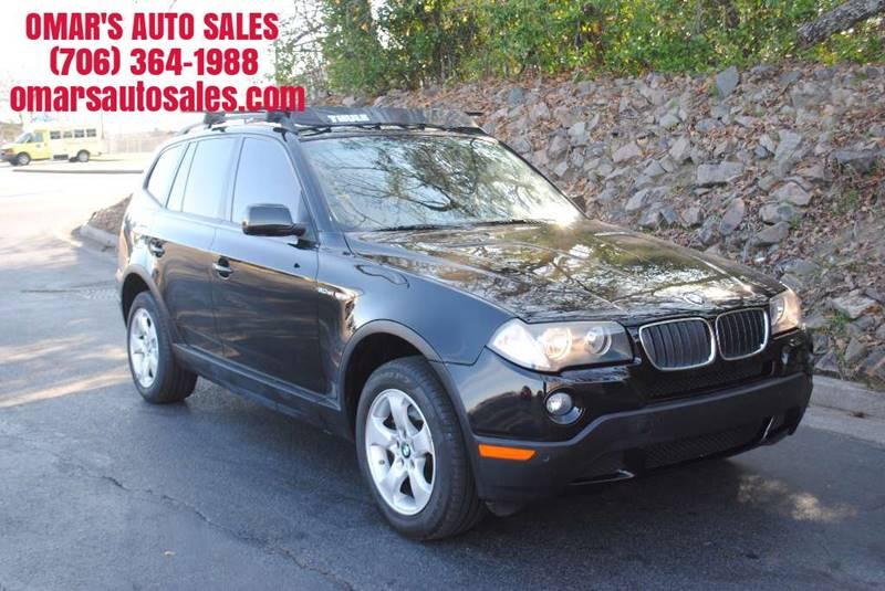 2007 BMW X3 30SI AWD 4DR SUV black awd very nice suv with bluetooth leather seats panoramic su