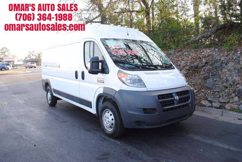2016 RAM PROMASTER CARGO 2500 159 WB 3DR HIGH ROOF CARGO white no accidents  only 1 owner ver