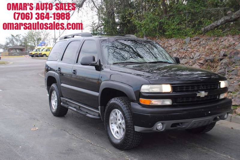 2002 CHEVROLET TAHOE BASE 4DR 4WD SUV black no accidents 4x4 new tires clean suv with running