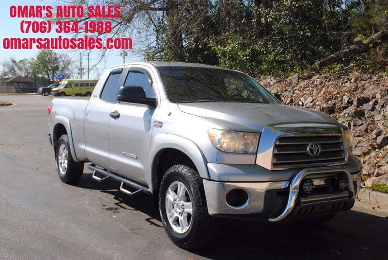 2007 TOYOTA TUNDRA SR5 4DR DOUBLE CAB SB 57L V8 silver sr5 57l v8 clean truck with running bo