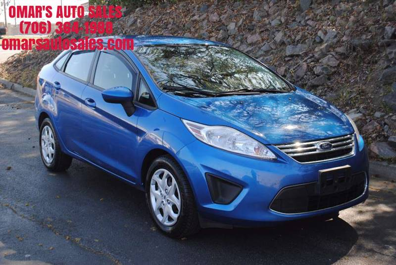 2011 FORD FIESTA SE 4DR SEDAN blue no accidents over 32 mpg 3 months free siriusxm satellite