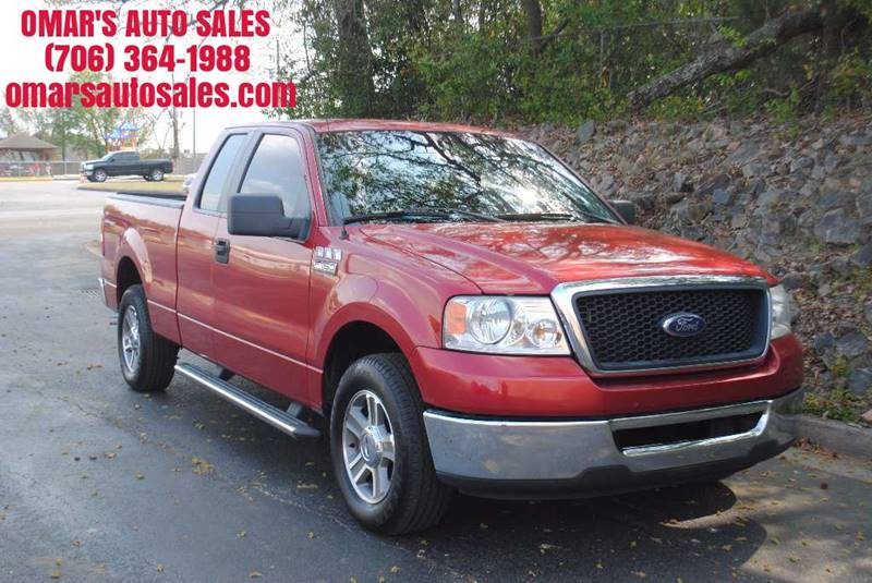 2007 FORD F-150 XLT 4DR SUPERCAB STYLESIDE 55 F red pickup bed light pickup bed type - fleetsid