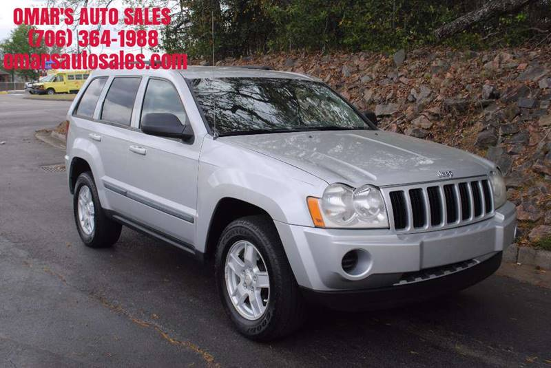 2007 JEEP GRAND CHEROKEE LAREDO 4DR SUV silver cargo tie downs front air conditioning front air