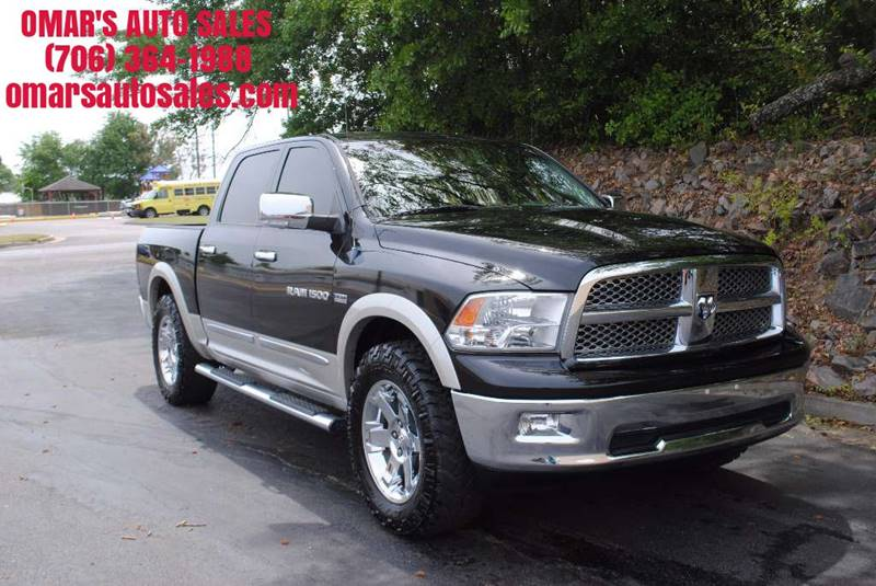 2011 RAM RAM PICKUP 1500 LARAMIE 4X2 4DR CREW CAB 55 FT black no accidents 3 months free siri