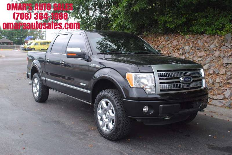 2012 FORD F-150 PLATINUM 4X4 4DR SUPERCREW STYLE black no accidents 4x4 fully loaded with heate