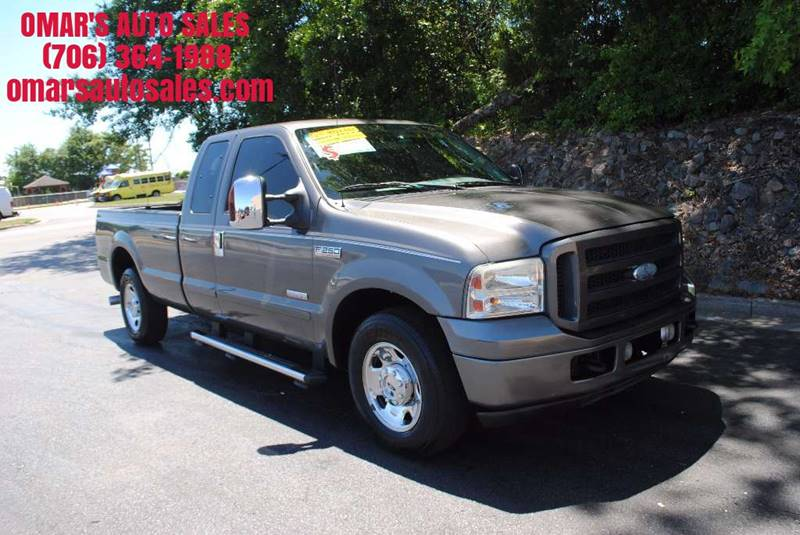 2006 FORD F-250 SUPER DUTY XLT 4DR SUPERCAB LB gray diesel power stroke turbo charger clean tr