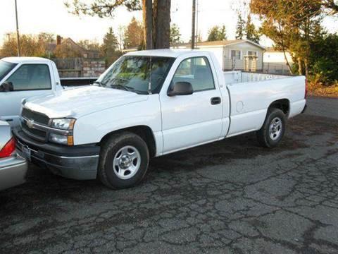 2004 Chevrolet Silverado 1500 for sale at MIDLAND MOTORS LLC in Tacoma WA
