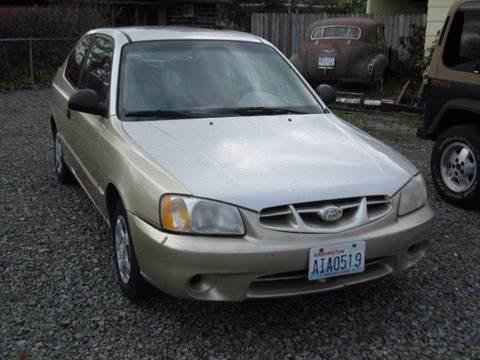 2002 Hyundai Accent for sale at MIDLAND MOTORS LLC in Tacoma WA
