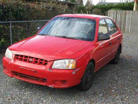 2001 Hyundai Accent for sale at MIDLAND MOTORS LLC in Tacoma WA