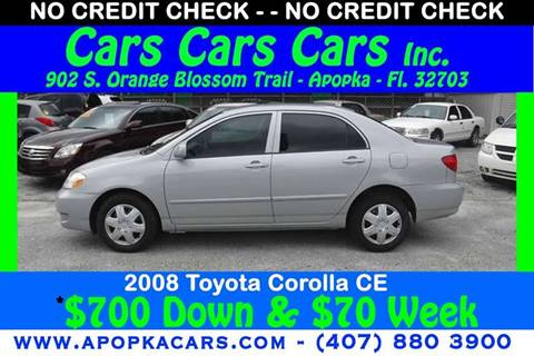 2008 Toyota Corolla for sale at CARS CARS CARS INC in Apopka FL