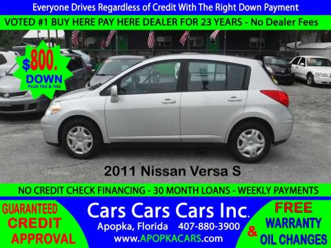 2011 Nissan Versa for sale at CARS CARS CARS INC in Apopka FL