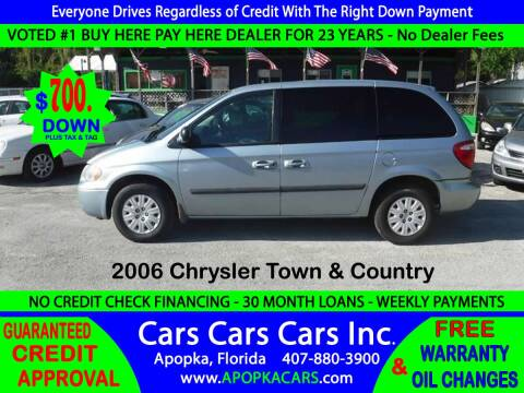 2006 Chrysler Town and Country for sale at CARS CARS CARS INC in Apopka FL
