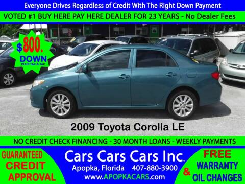 2009 Toyota Corolla for sale at CARS CARS CARS INC in Apopka FL