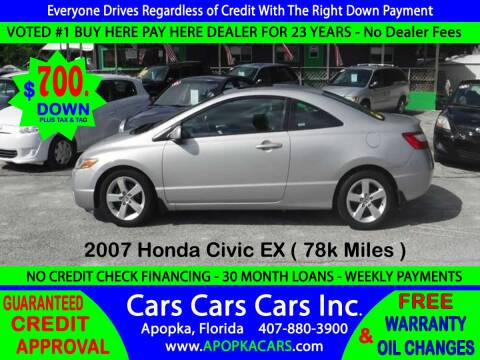 2007 Honda Civic for sale at CARS CARS CARS INC in Apopka FL