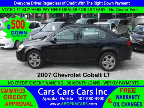 2007 Chevrolet Cobalt for sale at CARS CARS CARS INC in Apopka FL
