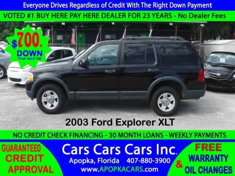 2003 Ford Explorer for sale at CARS CARS CARS INC in Apopka FL
