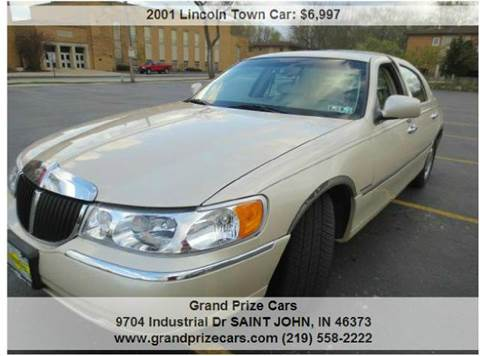 2001 Lincoln Town Car for sale at Grand Prize Cars in Cedar Lake IN