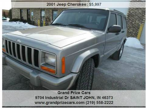 2001 Jeep Cherokee for sale at Grand Prize Cars in Cedar Lake IN