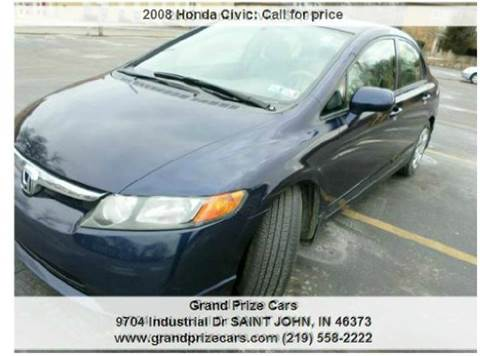 2008 Honda Civic for sale at Grand Prize Cars in Cedar Lake IN