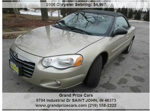 2006 Chrysler Sebring for sale at Grand Prize Cars in Cedar Lake IN