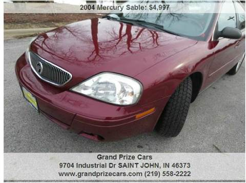 2004 Mercury Sable for sale at Grand Prize Cars in Cedar Lake IN