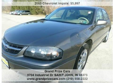 2003 Chevrolet Impala for sale at Grand Prize Cars in Cedar Lake IN