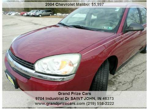 2004 Chevrolet Malibu for sale at Grand Prize Cars in Cedar Lake IN