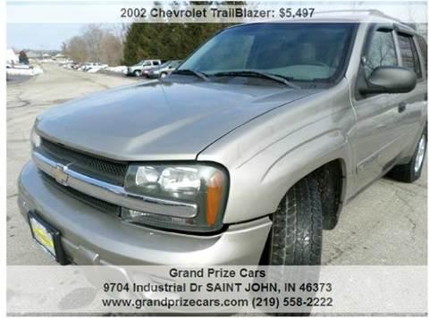 2002 Chevrolet TrailBlazer for sale at Grand Prize Cars in Cedar Lake IN