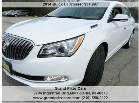 2014 Buick LaCrosse for sale at Grand Prize Cars in Cedar Lake IN