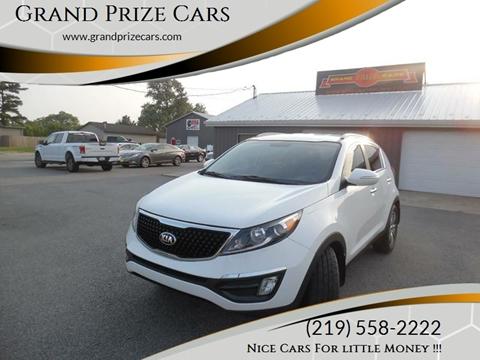2014 Kia Sportage for sale at Grand Prize Cars in Cedar Lake IN
