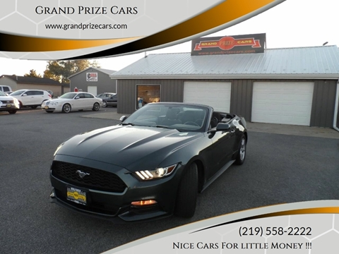 2016 Ford Mustang for sale at Grand Prize Cars in Cedar Lake IN