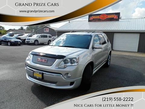 2012 GMC Acadia for sale at Grand Prize Cars in Cedar Lake IN