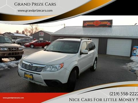 2009 Subaru Forester for sale at Grand Prize Cars in Cedar Lake IN