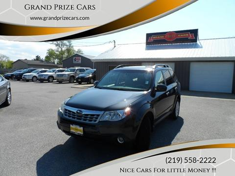 2011 Subaru Forester for sale at Grand Prize Cars in Cedar Lake IN