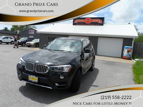 2015 BMW X3 for sale at Grand Prize Cars in Cedar Lake IN