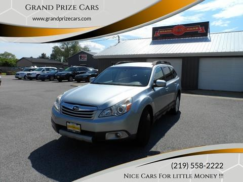 2012 Subaru Outback for sale at Grand Prize Cars in Cedar Lake IN