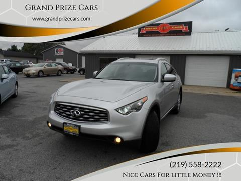 2010 Infiniti FX35 for sale at Grand Prize Cars in Cedar Lake IN