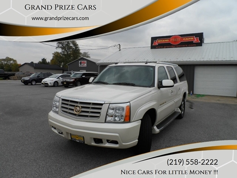 2005 Cadillac Escalade ESV for sale at Grand Prize Cars in Cedar Lake IN