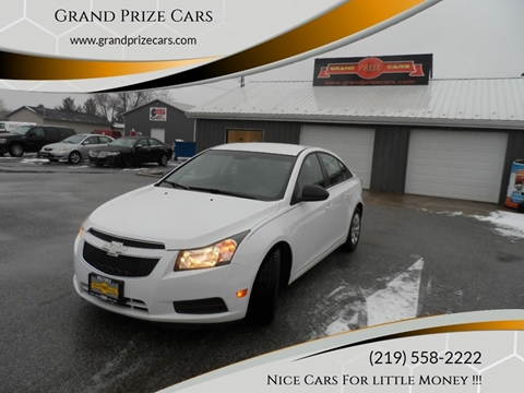 2013 Chevrolet Cruze for sale at Grand Prize Cars in Cedar Lake IN